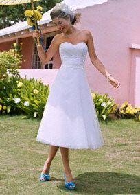 Short Wedding Dresses & Tea Length Wedding Dresses at Davids Bridal!