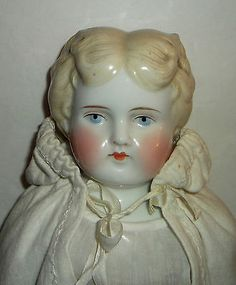 ANTIQUE VICTORIAN China Shoulder Head Cloth Body Leather Arms & Shoes VTG DOLL