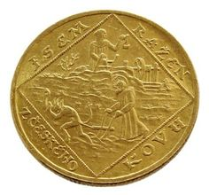 Commemorative coins of Czechoslovakia 2 ducat gold coin