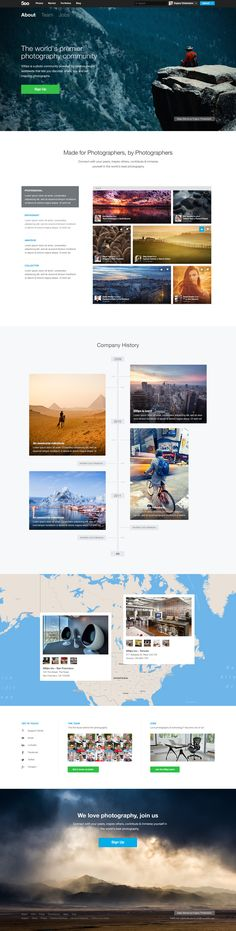 500px About page by Oli Lisher