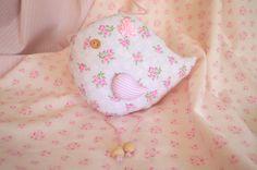 Baby Shower Gift  Fabric Bird  Floral Bird  by ForestGirlbyElektra