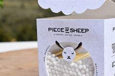 Piece.Of.Sheep on Packaging of the World - Creative Package Design Gallery Creative Package, Less Is More, Packaging Design Inspiration, Package Design, Printing Process, Sheep, Organic Cotton, Digital Prints, Place Card Holders