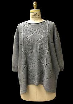 Designer: Maripaz Munoz knitGrandeur®: FIT & Baruffa 2/30s Cashwool Collaboration: Term Garment Project, Part II