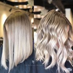 "460 Likes, 22 Comments - Melanie Scheel (@the_balayage_mermaid) on Instagram: ""Winter Blonde Balayage ❄️⛄️ Which one do you guys like better, straight or waves? . . .…"""