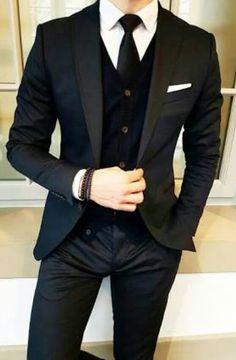 auron omega/ todos los demas alfas.  ¿que pasaria si el joven omega s… #fanfic # Fanfic # amreading # books # wattpad Mens Fashion Suits, Mens Suits, Fashion Outfits, Style Fashion, Black Suit Men, Slim Fit Tuxedo, Designer Suits For Men, Designer Clothes For Men, Shirt Tucked In
