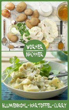 http://eatsmarter.de/rezepte/kartoffel-blumenkohl-curry Curry mit Blumenkohl und Kartoffeln klingt ein wenig ungewohnt, solltet Ihr aber unbedingt probieren.