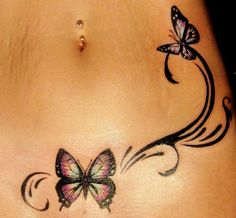 Needs to be higher up and going around the bellybutton more.... Way cute idea
