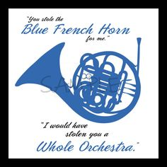 Blue French Horn  How I Met Your Mother art print by 3oh9Design, $10.00