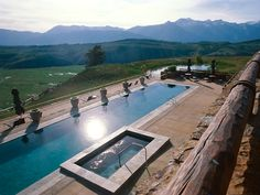 Amangani Resort, Wyoming- At sunset, move from the heated pool to the whirlpool for a sunset over the Grand Teton.
