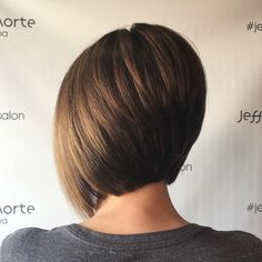The Full Stack: 50 Hottest Stacked Haircuts Stacked Nape-Length Bob with Elongation Inverted Bob Hairstyles, Bob Hairstyles For Fine Hair, Hairstyles Haircuts, Wedding Hairstyles, Celebrity Hairstyles, Pretty Hairstyles, Angled Bob Hairstyles, Beautiful Haircuts, Simple Hairstyles