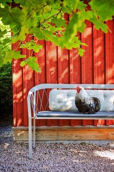 Thinking about new furniture for the garden? See my styling for the Swedish magazine Lantliv. Styling by me Anna Hänström, Foto Klas Sjöberg, Country Life, Country Living, Red Farmhouse, Denim Flowers, Little Red Hen, Red Cottage, Red Rooster, Down On The Farm, Raising Chickens