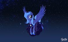Luna on a Cloud 2 by mysticalpha on DeviantArt