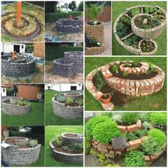 Spiral Herb Garden. Details >> http://bit.ly/PEoLAD  Do you want to make your own vertical herb spiral garden?  More #DIY projects >> www.wonderfuldiy.com