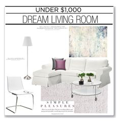 """Living Room Under $1000'"" by dianefantasy ❤ liked on Polyvore featuring interior, interiors, interior design, home, home decor, interior decorating, H&M, John Beard Collection, Jaipur and living room"