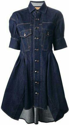 McQ Blue Denim Shirt Dress - Love Shirts - Ideas of Love Shirts - - MCQ Alexander Mcqueen Denim Shirt Dress Lyst Blue Denim Shirt, Jeans Denim, Denim Shirts, High Street Fashion, Denim Fashion, Fashion Outfits, Fall Fashion, Fashion Trends, Business Dresses