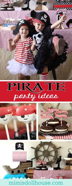 Pirate Party: Arghh you ready for a Buccaneer Bash? Today, I'm sharing this super fun Pirate Party. Check out all our pirate posts if you are looking for more Pirate Party ideas and inspiration!! via @mimisdollhouse