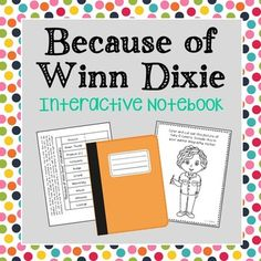 Because of Winn Dixie Interactive Notebook Novel Study  No Prep, Stress-Free Lessons. If you're looking for higher level hands-on activities that don't include boring multiple choice tests, then this is it! Author Biography, Poetry, Vocabulary Terms, Chapter Summaries.