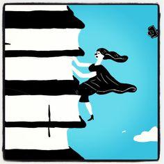 Climb ev'ry book pile!