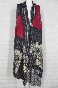LEE ANDERSEN Kyoto Vest Art To Wear Asian Inspired Asymmetrical Hem NWT S M L #LeeAndrersen