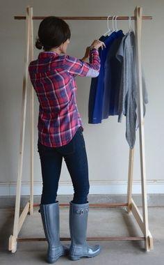 DIY Clothing Rack clothes