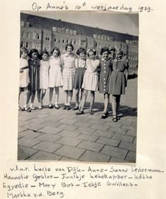 Anne and friends Anne Frank, Photo Wall, War, Memories, In This Moment, History, Anna, Friends, Souvenir