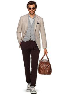 Jacket Light Brown Plain Havana C1074i | Suitsupply Online Store