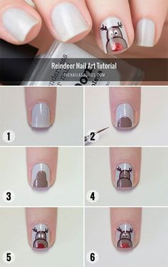 Rudolph The Red Nosed Reindeer Nail Art Tutorial Loading. Rudolph The Red Nosed Reindeer Nail Art Tutorial Diy Christmas Nail Art, Xmas Nail Art, Xmas Nails, Christmas Nail Art Designs, Winter Nail Art, Holiday Nails, Winter Nails, Christmas Holidays, Simple Christmas