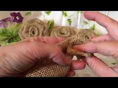 How to make a burlap rose. Burlap flower great for bouquets.I created this video for a super nice gal that want's to learn how to make my burlap flowers. But I decided to post it because I think it can help out others. Burlap Flowers, Paper Flowers Diy, Handmade Flowers, Flower Crafts, Fabric Flowers, Burlap Flower Tutorial, Rose Tutorial, Burlap Crafts, Fabric Crafts