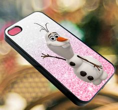 olaf frozen disney glitter Pink  iPhone by diemondHard on Etsy, $15.00
