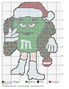 Plastic Canvas Christmas, Plastic Canvas Crafts, Plastic Canvas Patterns, Needlepoint Patterns, Cross Stitch Patterns, M&m Characters, Craft Patterns, Bead Patterns, Christmas Wall Hangings
