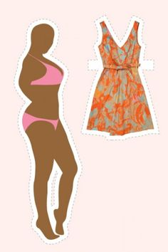 15 Perfect Spring Dresses For 15 Body Types  By Gina Marinelli, Illustrated by Gabriela Alford    Hourglass — If you're built like a modern-day pin-up, choose a dress that keeps you feeling just as glamourous. An elongating V-neck, a flared skirt, and a belt to show off your tiny waist will all work together for a look even Sophia Loren would envy.    Cacharel Poplin Tangerine Dress, $475, available at Shop Les Nouvelles.