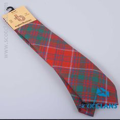 Pure wool tie in Grant ancient tartan from ScotClans