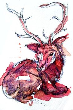 Higgins the Deer, on sale at Society6: Art prints, iPhone cases, and more!