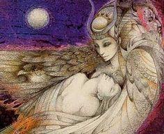 The ISIS Ploy: Illuminati Sorcery and Sacrifice - .Isis in turn goes back to Sumer and the goddess Semiramis, or Ishtar, an embodiment of this same esoteric deity. Isis Goddess, Egyptian Goddess, Goddess Art, Mother Goddess, Fantasy Kunst, Fantasy Art, Fantasy Life, Mystique, Totems