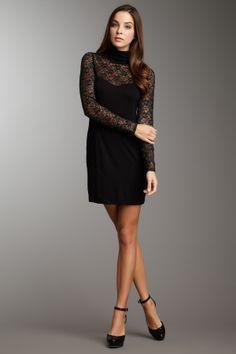 Long Sleeve Lace Turtleneck Dress
