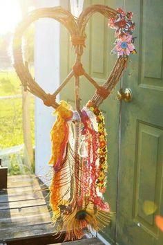 Perfect summer/boho/peace wreath