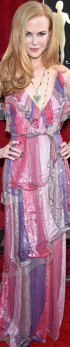 Nicole Kidman wearing  Gucci at the 2016 SAG Awards