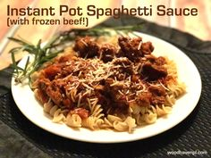Looking for a fast way to make meaty spaghetti sauce? Is your ground beef frozen? Let the Instant Pot do the work for you - no thawing or browning required!