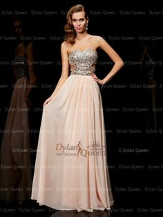 Amazing A-Line/Princess Sweetheart Sleeveless Rhinestone Floor-Length Chiffon Dress Evening Dresses Online, Cheap Evening Dresses, Formal Dresses, Prom Dress 2014, Beautiful Prom Dresses, Chiffon Dress, New Dress, Queen, Princess