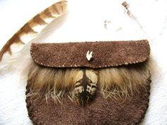 Medicine Bag Fox Owl Feather Pouch Quartz Crystal by TheSacredWild, £22.00