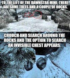 Secret invisible chest