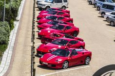 The 8 vehicles that visited the resort today. #ferrari #lifestyle