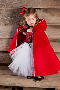 Little Red Riding Hood Tutu Dress Halloween Costume.