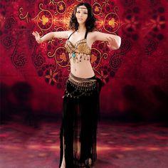 on sale belly dance costume velvet outfit tribal large 38D cup fusion fringes se #bellydanceled