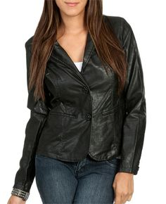Leatherette Blazer from WetSeal.com