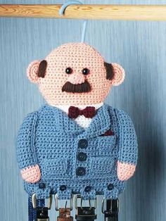 Haha, so cute. Man Belt Holder - free crochet pattern