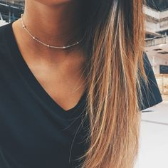 Silver Satellite Chain Choker