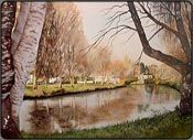 river avon christchurch, new zealand watercolor, watercolor art instruction