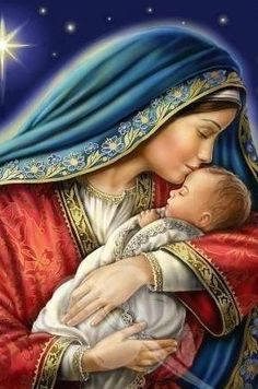 Jesus And Mary Pictures, Mother Mary Images, Images Of Mary, Mary And Jesus, Catholic Prayers, Catholic Art, Religious Art, Blessed Mother Mary, Blessed Virgin Mary