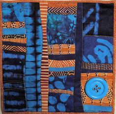 dyed damasks and Zimbabwean prints, is called Big Button Blues